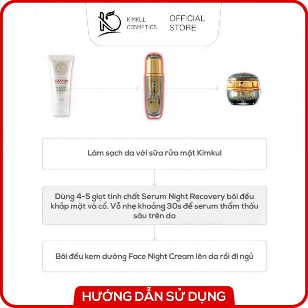 8938533074033 Serum dưỡng da Đêm KimKul Night Recovery 60ML - Tác dụng Dưỡng trắng da, giữ ẩm, chăm sóc da vào ban đêm