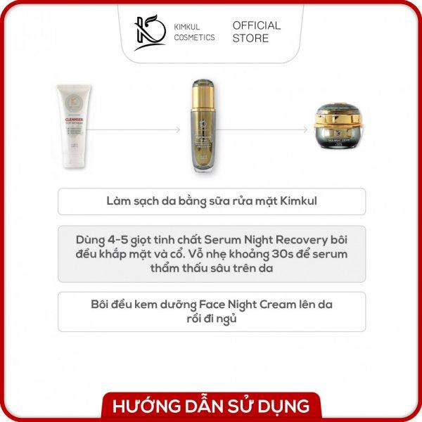 8938533074033 Combo Serum + Cream dưỡng da Đêm KimKul (Serum Night Recovery 50ML + Face Night Cream 30G) - Tác dụng Dưỡng trắng da, giữ ẩm, chăm sóc da vào ban đêm