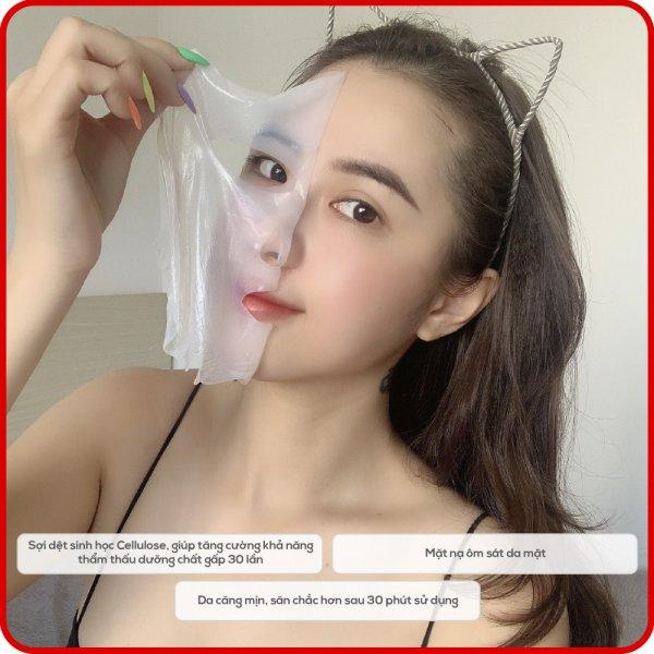 8938533074071 Hộp 8 Mặt nạ tảo biển Nhật Bản KimKul Seaweed Bio-Cell Mask - Bộ 8 Mặt nạ dưỡng trắng, cấp ẩm, giúp da mềm mịn đàn hồi