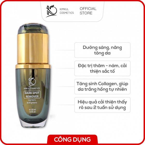 8938533074026 Serum trỉ Nám KimKul Dark Spot Remover 30ML - Serum huyết thanh hỗ trợ giảm Nám, phục hồi tổn thương da thâm, xạm, nám