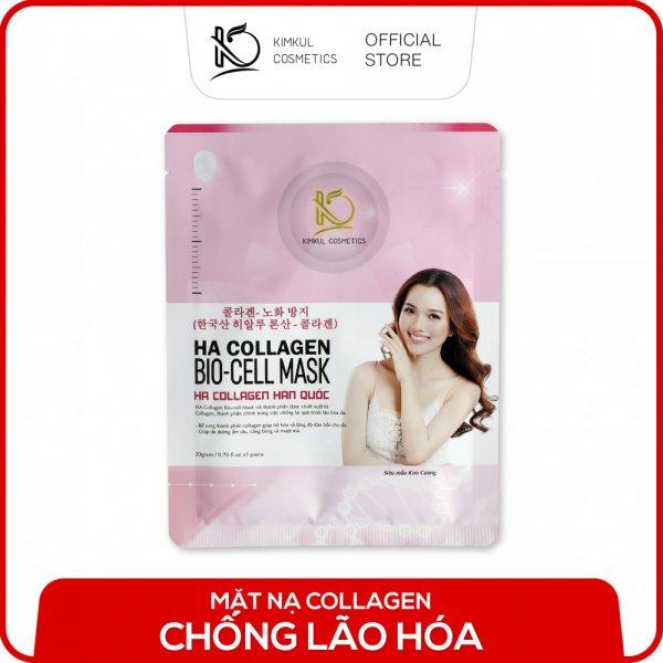 8938533074064 Mặt nạ Collagen Hàn Quốc KimKul HA Collagen Bio-Cell Mask - Mặt nạ Collagen chống lão hóa chuẩn Hàn Quốc dưỡng trắng, ngừa lão hóa