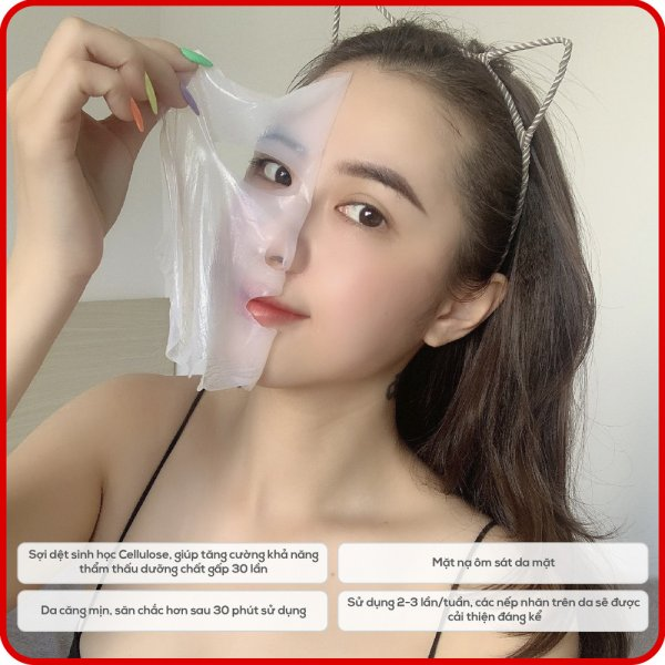 8938533074064 Hộp 8 Mặt nạ Collagen Hàn Quốc KimKul HA Collagen Bio-Cell Mask - Bộ 8 Mặt nạ Collagen chống lão hóa chuẩn Hàn Quốc dưỡng trắng, ngừa lão hóa
