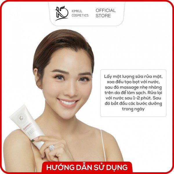8938533074019 Sữa rửa mặt cho nữ KimKul Cleanser For Woman 100ML - Sữa rửa mặt dưỡng ẩm, chống lão hóa, hỗ trợ trắng da cho nữ