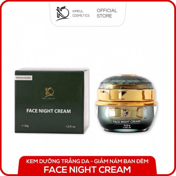 8938533074040 Cream dưỡng da Đêm KimKul Face Night Cream 30G - Tác dụng Dưỡng trắng da, giữ ẩm, chăm sóc da vào ban đêm